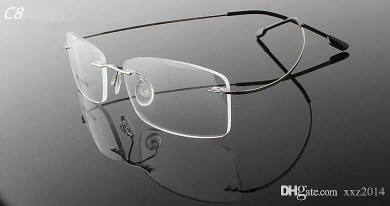 Cheap wholesale fashion and contracted unisex super light optical myopia rimless memory frame 1190 style for prescription glasses