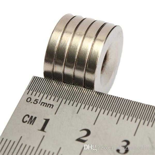 N50 20x3mm Strong Round Countersunk Ring Magnets 5mm Hole Rare Earth Neodymium Magnet