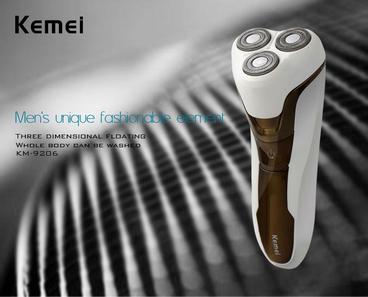 3 Heads Electronic Rechargeable Shaver Triple Blade Electric Shaving Razors Men Face Care 3D Floating bead mustache trimmer