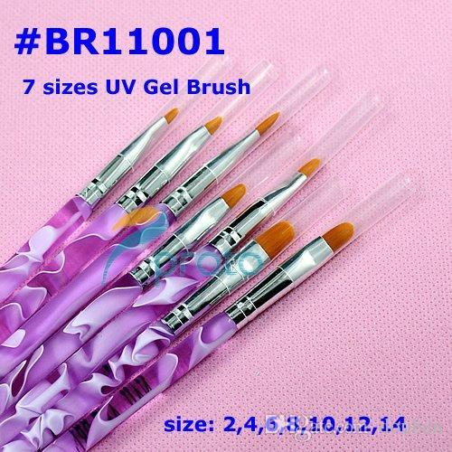 Toptan-leri / 7 adet Profesyonel UV Jel Fırçası Nail Art Resim Fırça Toptan SKU: G0034XX
