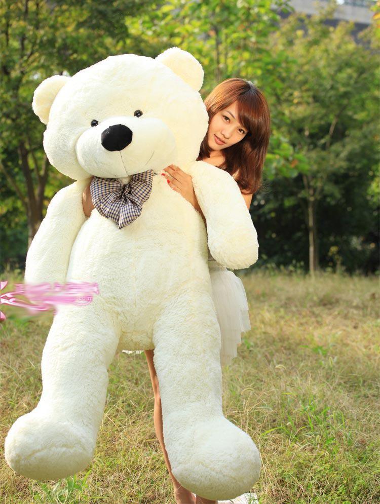 New Arrival 6.5 Feet Huge TEDDY BEAR Stuffed Brown Giant JUMBO Doll for Xmas Birthday Valentine's Day Gift