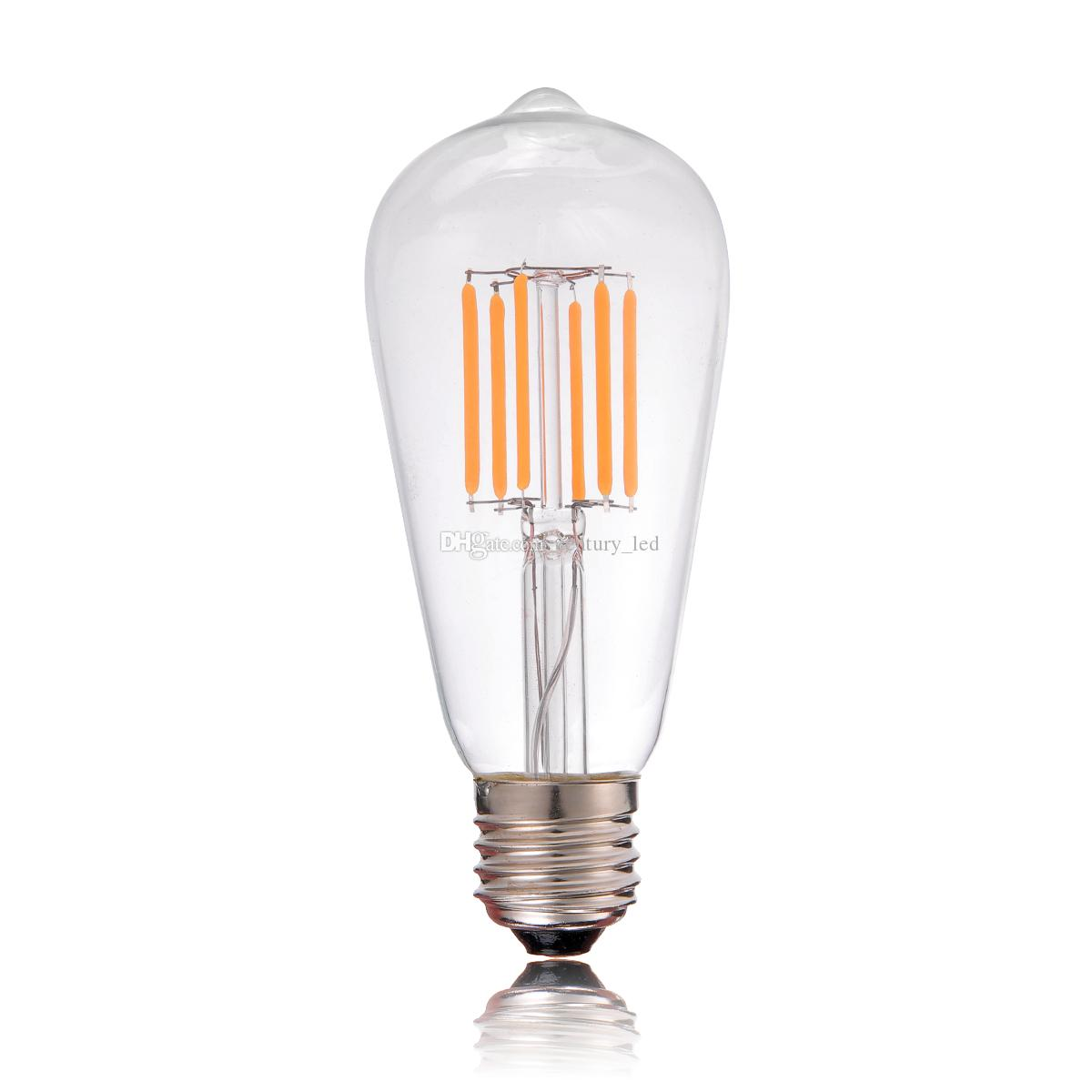 best vintage led filament bulb lightedison st58 style6w 2200ke26 e27 baseretro decorative mr16 led bulb cree led bulbs from centuryled - Decorative Light Bulbs