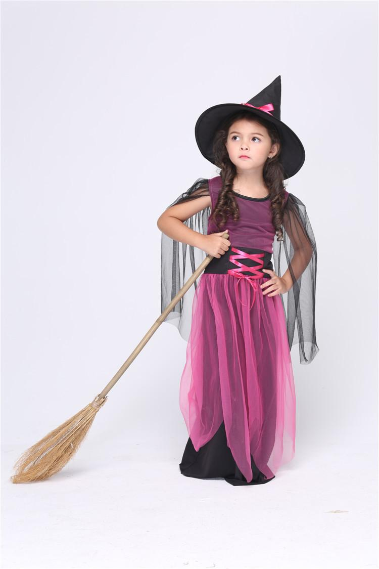 2017 2016 New Kids Witch Costume Kids Girls Masquerade Dress ...