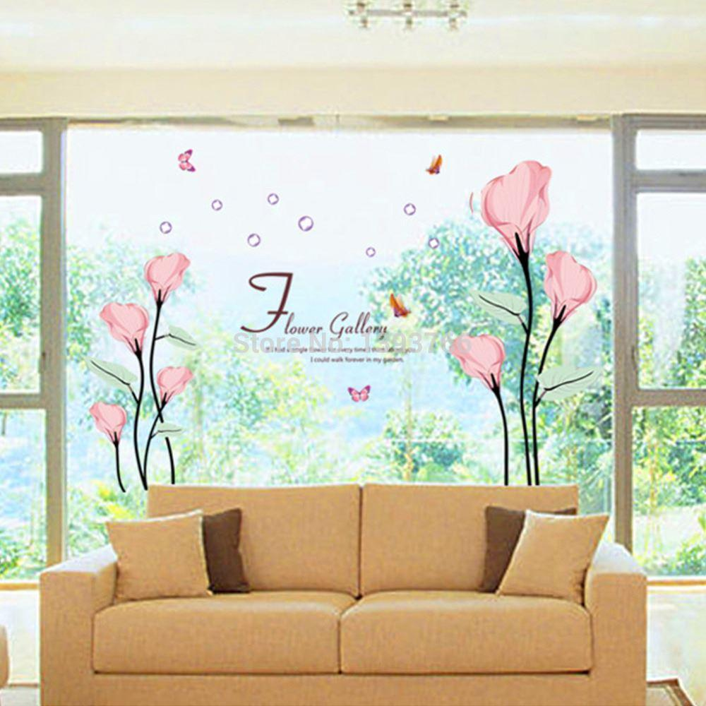 120 175cm flower gallery wall stickers romatic living room bedroom 120 175cm flower gallery wall stickers romatic living room bedroom tv brackground wall decals home decoration wallpaper mural
