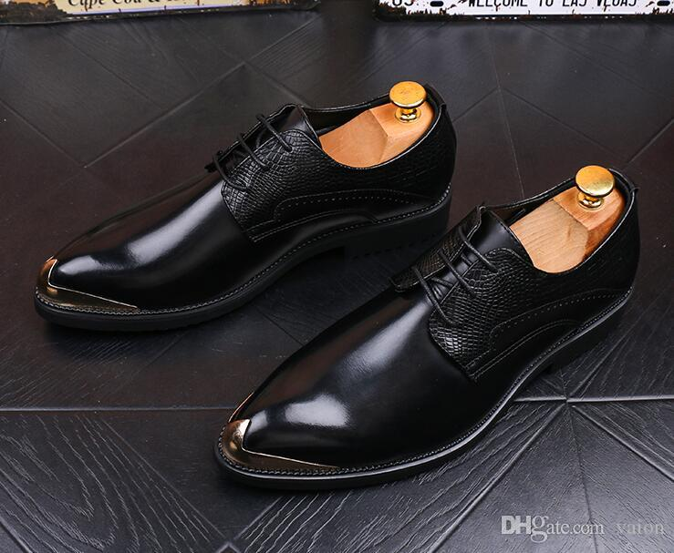 Luxury design Men British Vintage Lace-up mixed color Oxford Shoes loafers man Groom Wedding dress Homecoming Formal Shoes for Male GG 567