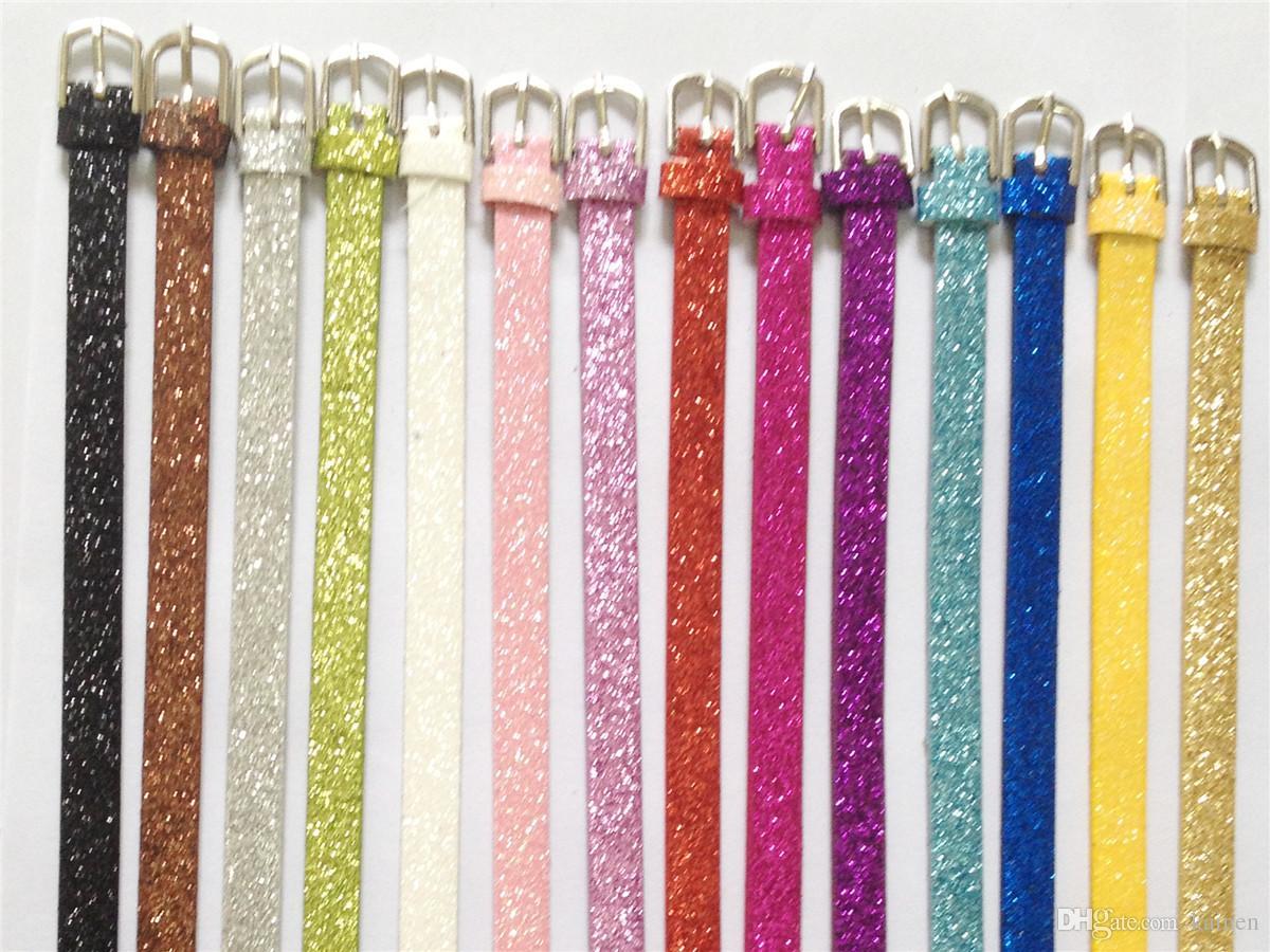 Wholesale 10MM PU Leather DIY Glint Charm Wristband Bracelets DIY Accessory Fit 10MM Slide Letter /Slide Charms WB03-1