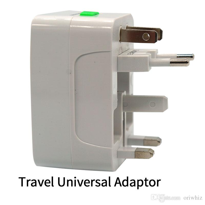 Best Quality Universal International Adapter Travel Wall Charger AC Power EU US AU UK All In One Converter Plug With Retail Package