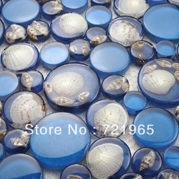 3d glass wall tile backsplash resin shell mosaic rnmt059 blue glass mosaic mother of pearl bathroom wall u0026 floor tiles