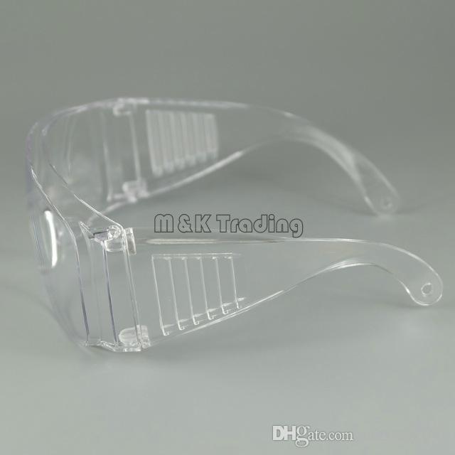 Säkerhetsglasögon Anti-Scratched Big Frame Safety Glasögon Dammsäker Vindfri Arbetskraft Skyddande Svartvitt 20st Free Ship