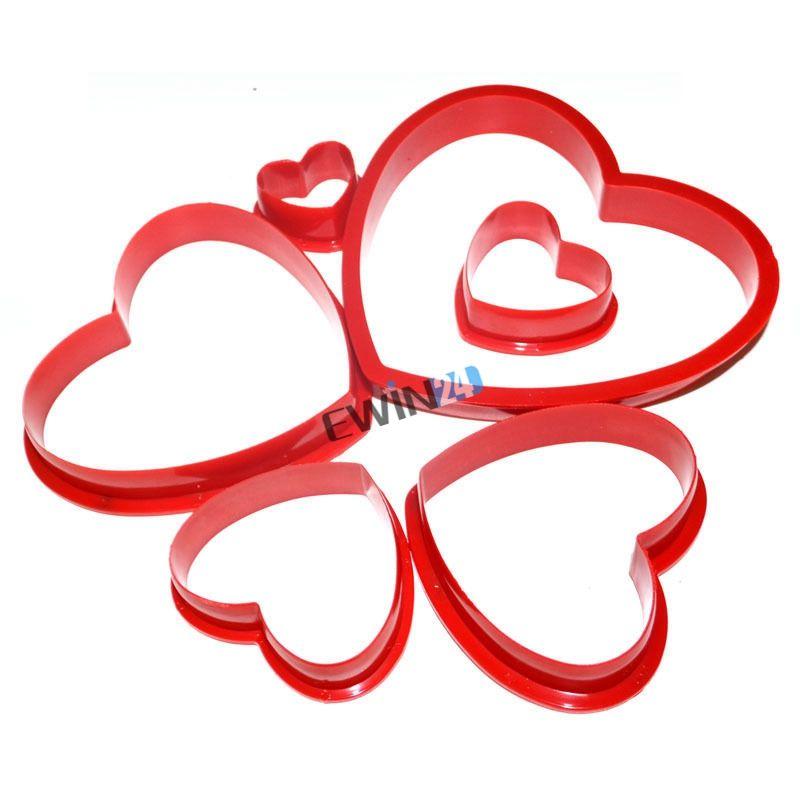 Strumenti di torta / set a forma di cuore stantuffo fondente che decora gli attrezzi della taglierina del sugarcraft muffa dei biscotti del biscotto della muffa