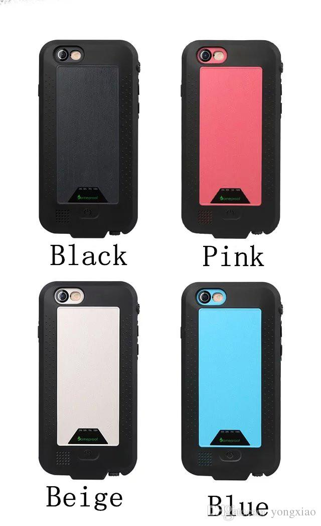 4300mAh Power Bank waterproof Shockproof Case cover backup battery For Iphone 6 6s 3750ham for iphone6 plus life water proof Cover