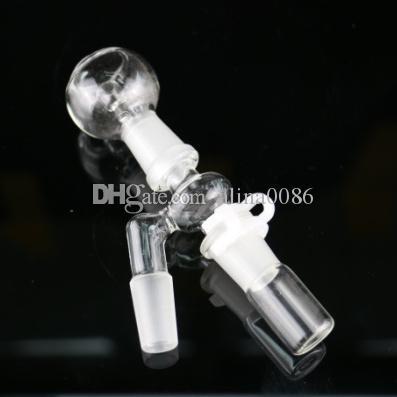 Hukahn-Öl-Rigs-Glasbongs abgewinkelte männliche Adapter-Kit 14mm / 18mm weibliche Reclaim-Fänger komplett Set für Wasserleitungen Bong