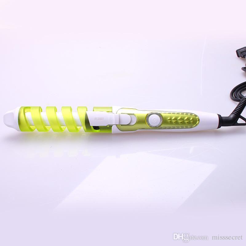 Sihirli Pro Saç Bigudi Elektrikli Kıvırmak Seramik Spiral Saç Curling Demir Değnek Salon Saç Şekillendirici Araçları Styler