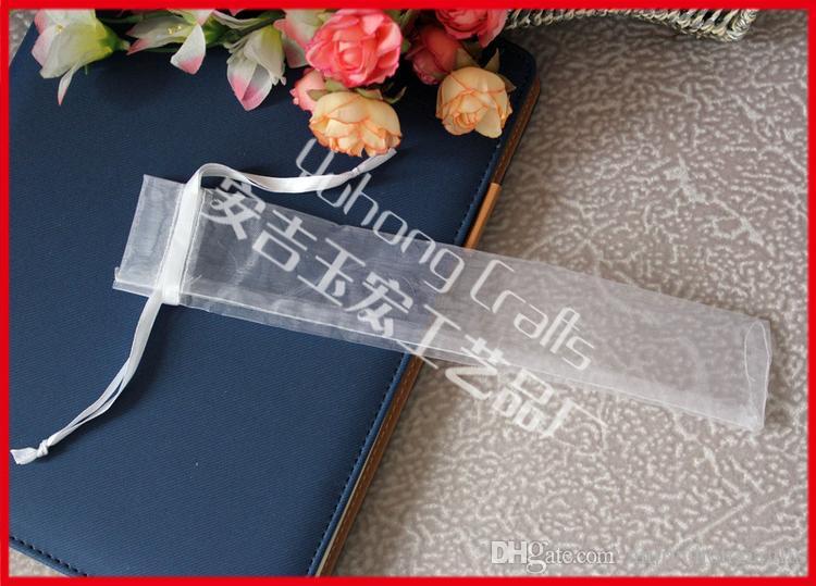 يمكن تخصيص / بيضاء شفافة أكياس الأورجانزا الناعمة مع الرباط اللون أكياس الزفاف هدية الحقيبة مروحة