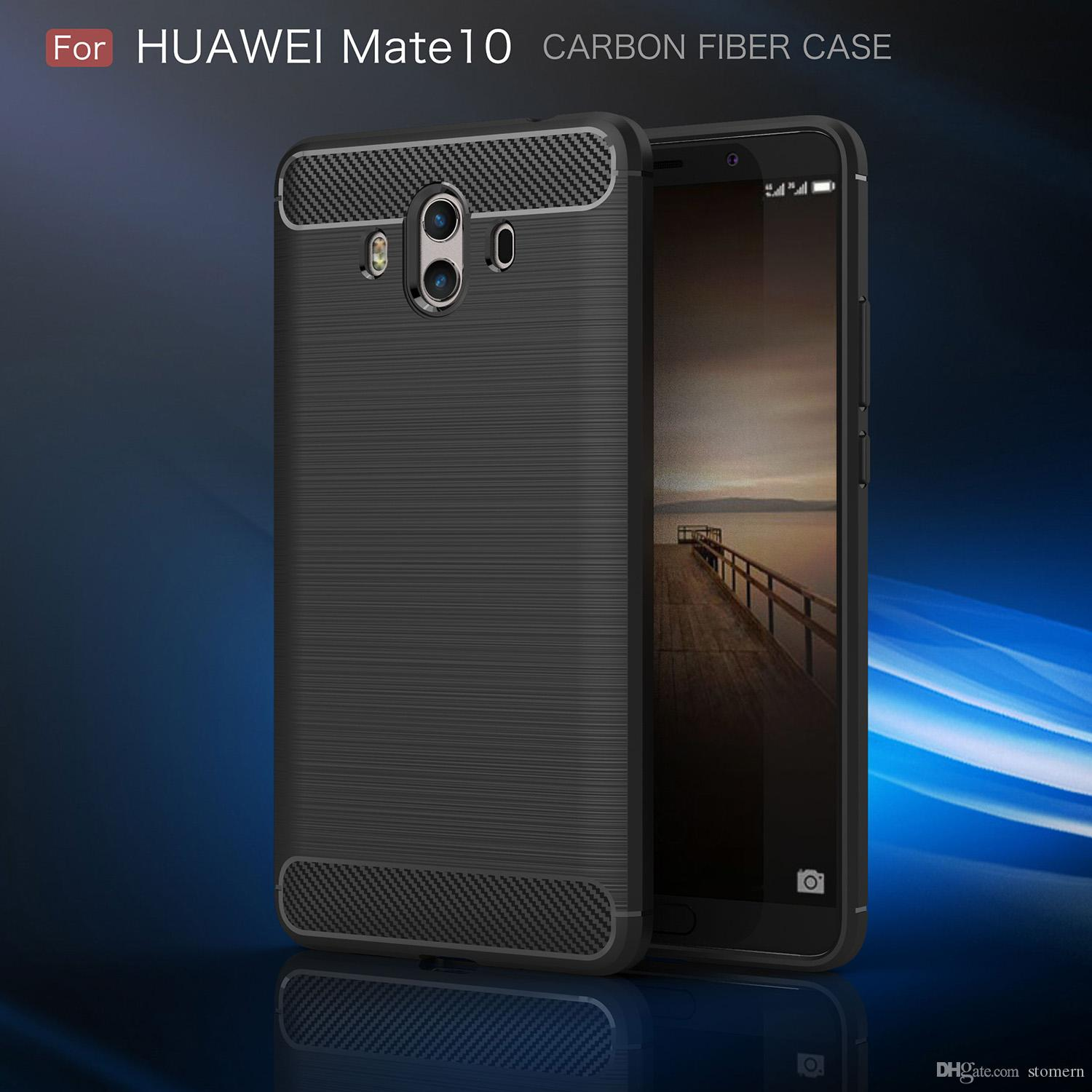 Carbon Fiber Case For Huawei Honor 7x Head 6 Mate 10 Lite V9 Play Mate 10 Pro 9 P9 Lite P8 Brushed Silicone Soft Rubber Back Cover Phone Covers Make Your