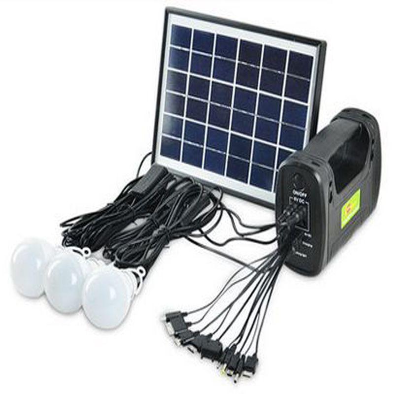 2019 5w 9v Solar Panel Camping 3 X 8led Bulbs Light System