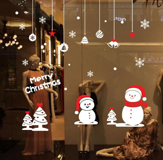 Snowflake Christmas Wall Art Sticker Removable Christmas Deer Wall Stickers  Shop Window Stickers Decorative Glass Door Sticker Christmas Decorative  Boxes ...
