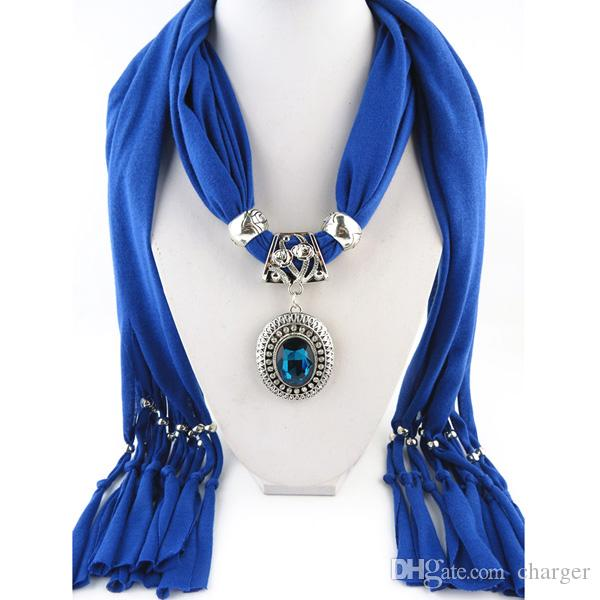 Pendant scarf jewelry with beads mixed 10 design colorful scarves pendant scarf jewelry with beads mixed 10 design colorful scarves charms cross necklace via dhl 1805004 scarves for sale skull scarves from charger aloadofball Images