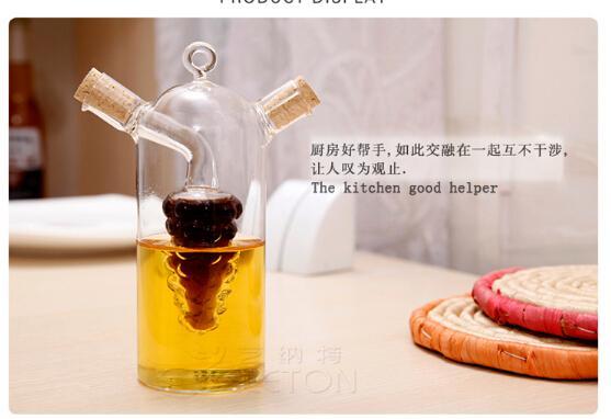 Authentic Kitchen. Glass Double Export Sauce Pot. Soy Sauce Vinegar Bottle. Oil  Bottle. Caster Oil Vinegar Pot.