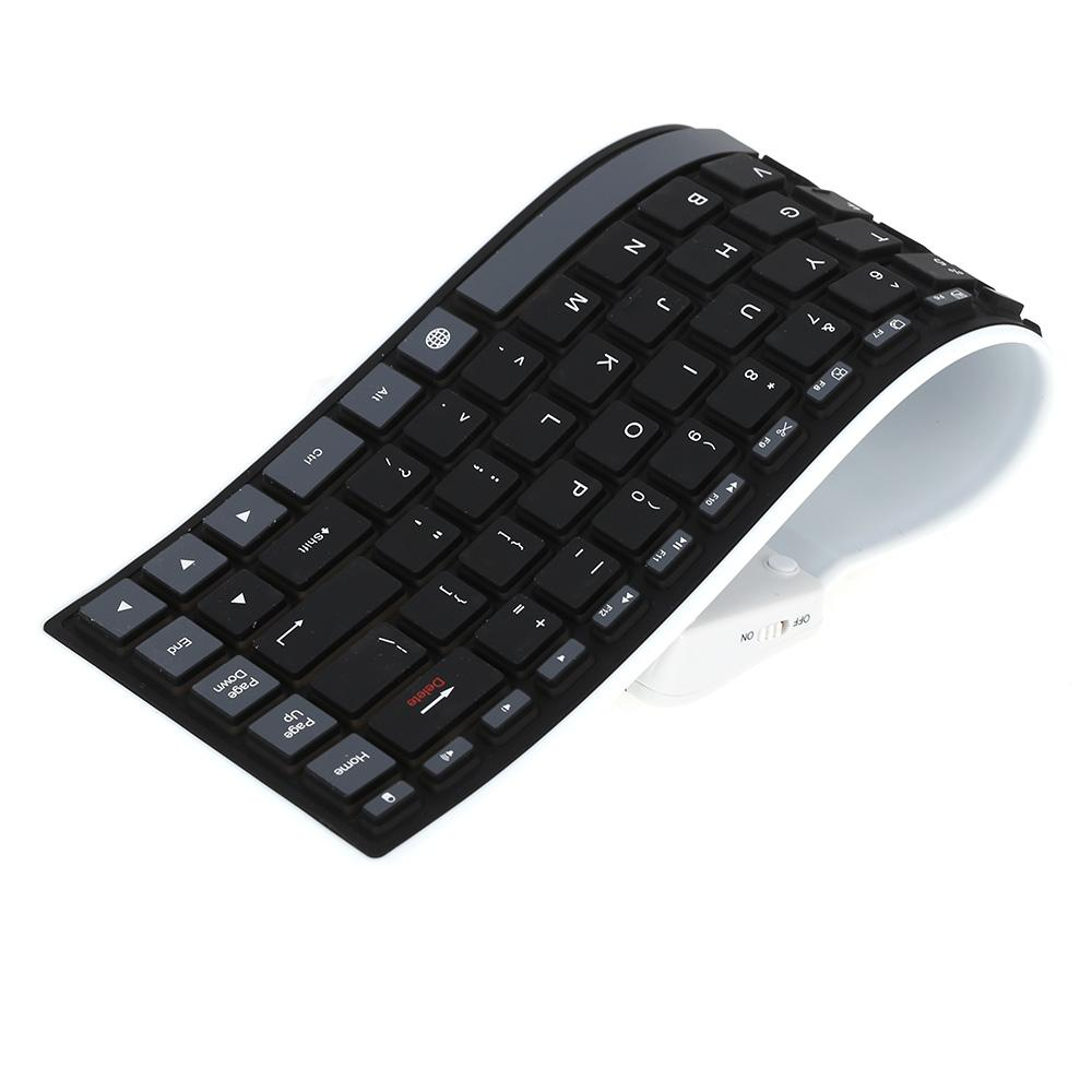 Roll Up Bluetooth Keyboard Android: Mini Wireless Bluetooth Keyboard Roll Soft Silicone Water Resistant Flexible Keyboard For IPhone