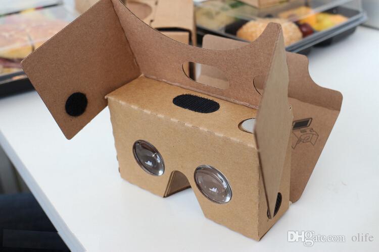 El más nuevo Google Cardboard 2.0 V2 Gafas 3D VR Calidad Valencia Max Fit 6 pulgadas para Smartphone IOS Android iphone 6 6S plus 5S S6 edge DHL