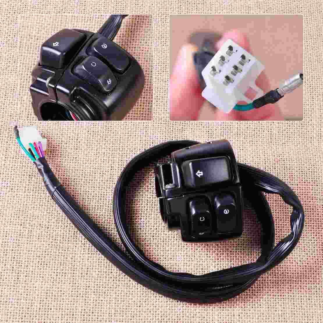 98f982b4725 Motorcycle 1 Handlebar Ignition Turn Signal Switch Wiring Harness ...