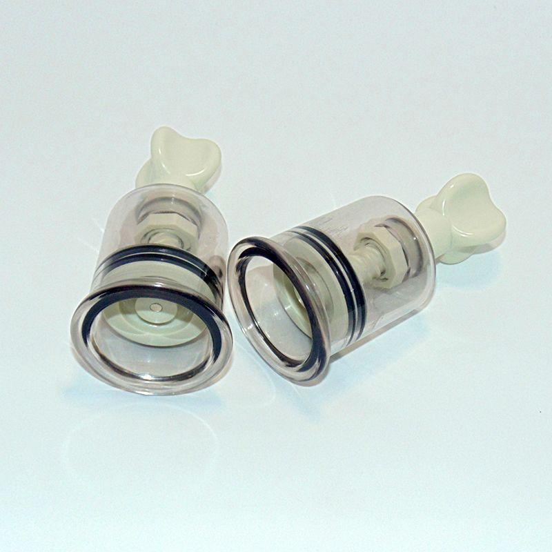 2 Unids / par Juguetes Sexuales Estimulador de Pezón 2 Pulgadas Coño Clitoris Lechón Bomba Productos Adultos para Mujeres