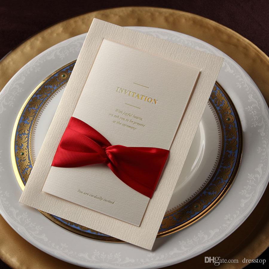 활과 함께 패션 결혼식 초대장 카드 맞춤 초대장 무료 배송