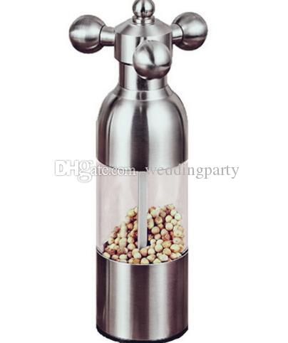 Kitchen supplies High class stainless steel pepper mill faucet shape pepper mill Manual Grinder