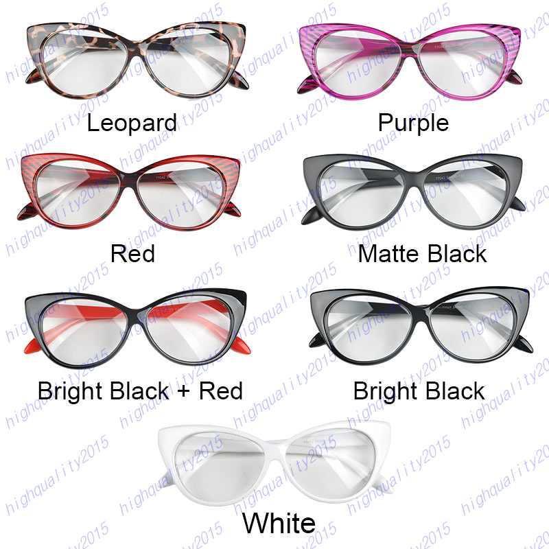 39cd65ee30361 Plain Eye Frame Spectacle Cat Eye Glasses Eye Styling Leopard Eyeglasses  Frame Women Brand Birthday Gift UK 2019 From Highquality2015