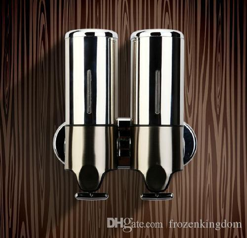 Stainless Steel Wall Mount Liquid Double Soap Dispenser