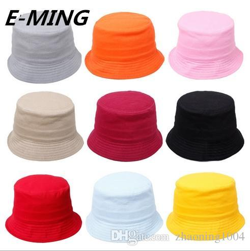 2019 Cotton Sun Hats For Fishing Plain Fisherman Hat
