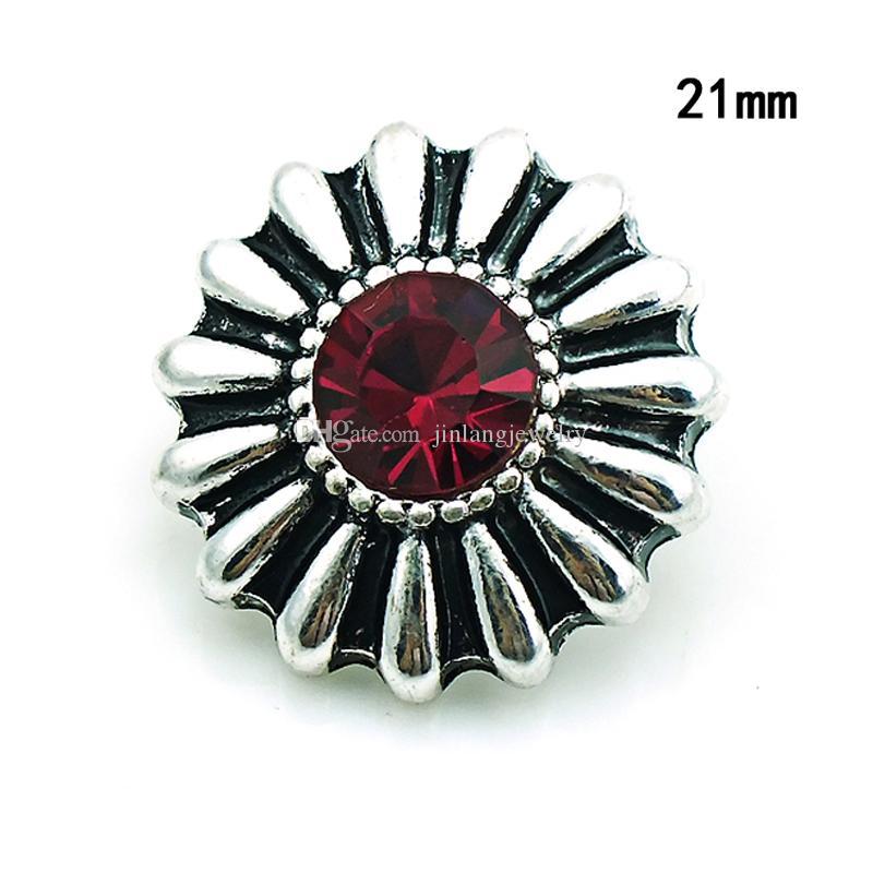 Moda Noosa 18mm botones a presión retro aleación roja ciervos jengibre permutable DIY collar colgante accesorios de la joyería NKC0065