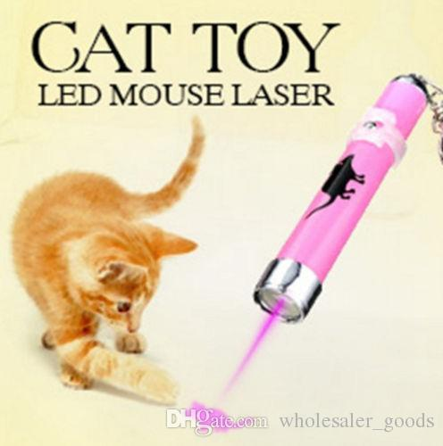 PET Funny Cat Dog Pet Toys LED Laser Pointer light Pen With Bright Mouse Animation Pets Supplies