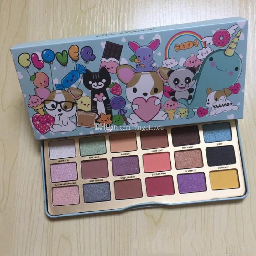 New Clover A Girl's Best Friend Makeup Eye Shadow Palette Make up Cosmetics Matte and Shimmer Eyeshadow Powder Palette gift