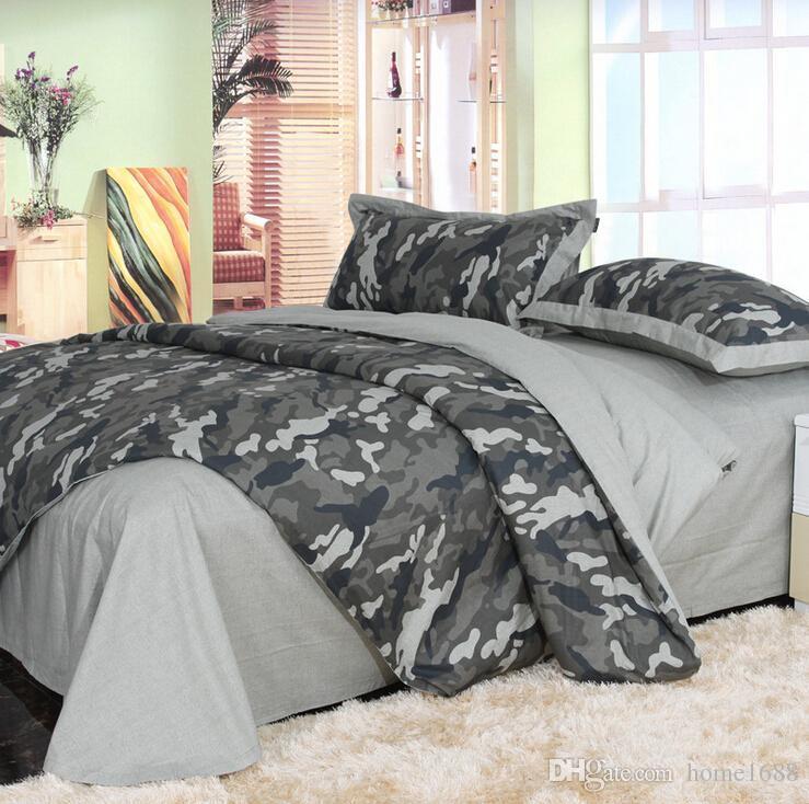 Acheter Ensembles De Literie Camouflage Armee Camo King Queen Pleine