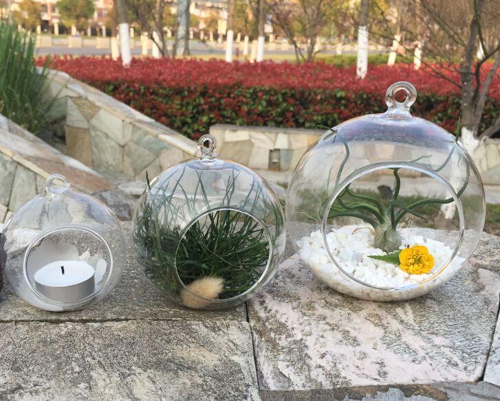 orb terrarium,air plant terrarium,hanging globe candle holders - Wedding or Home Decor