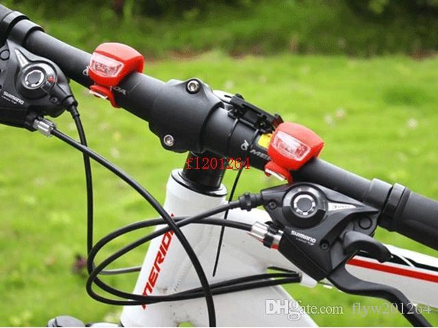 送料無料2 LED自転車ライトランプシリコーンリアバックライトホイール防水安全バイク2LEDライト、100ピース/ロット