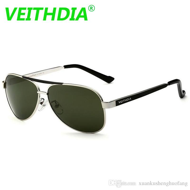 e65422c45 Compre VEITHDIA Designer De Marca Polarizada Óculos De Sol De Condução  Revestimento Espelhado Lente Verde Óculos De Sol 3152 Eyewear Com Caixa  Original ...