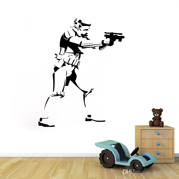 46*58cm Star Wars Wall Decals Removable Pvc Wall Stickers For Kids Rooms  Home Decor Bedroom Diy Wall Art Qt015 Home Decor Wall Art Stickers Home  Decor Wall ... Part 81