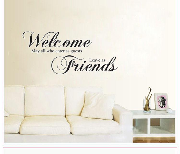 Welcome May All Who Enterfriends ENTER Home Decoration Wall Art Decals Living Room Decorative Stickers Quote