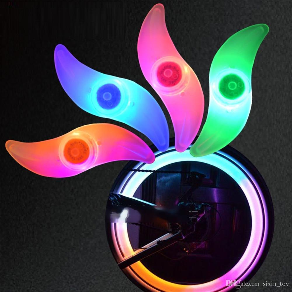 2017 Hot Cool Bicycle Bike Night Safe LED Flash Wheel Spoke Lights Motorcycle Car Wheel Lamp