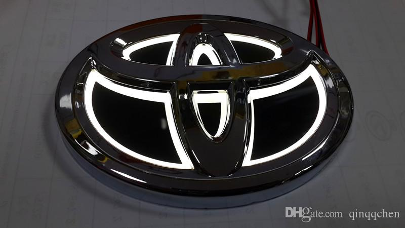2016 New 5D Auto standard Badge Lamp Special modified car logo LED light for Toyota COROLLA/CROWN/YARIS/COROLLA/VIOS etc.