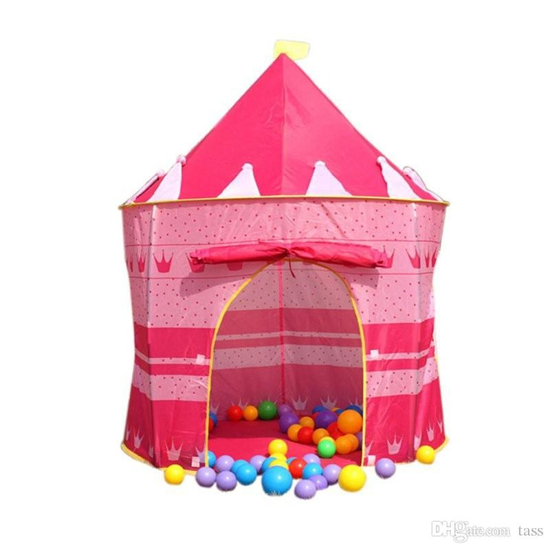 hot Children Beach Tent Prince and Princess Palace Castle Children Playing Indoor Outdoor Toy Tent Game House