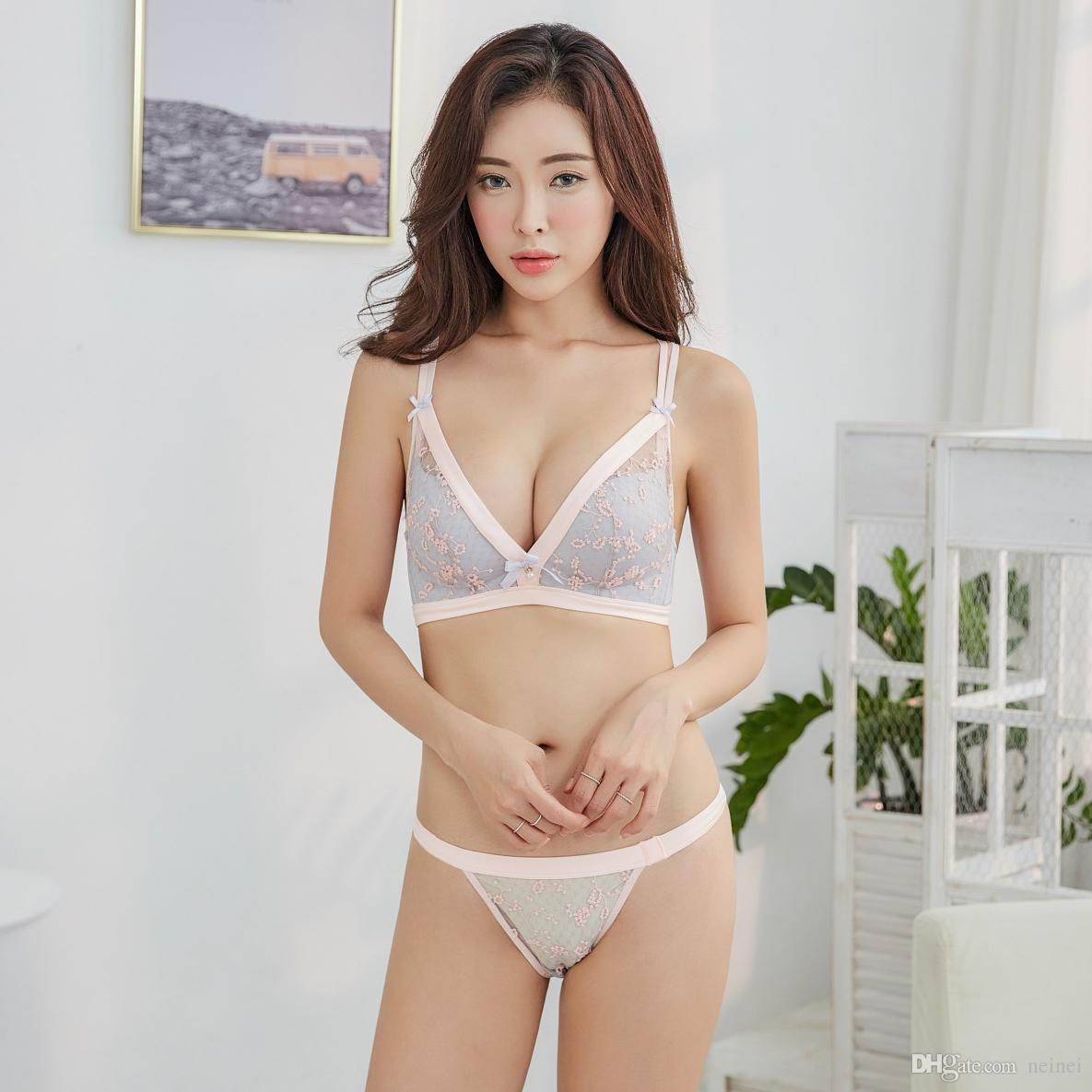 ab1bdb99dc Transparent Lace Young Girls Seamless Thin Small Intimates One-piece ...