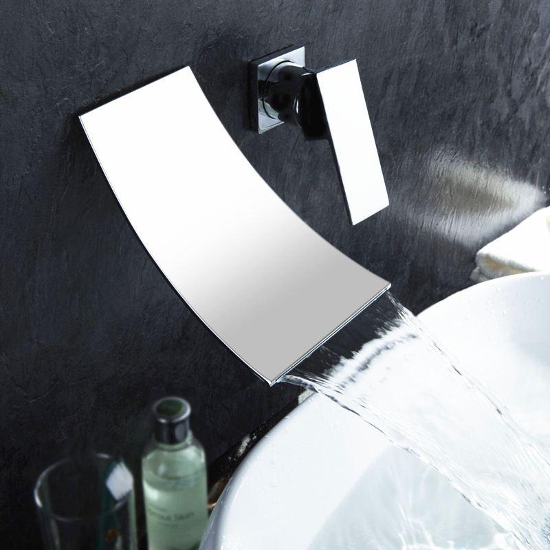 Online Cheap Modern In Wall Bathroom Faucet Bath Mixer Sink Taps ...