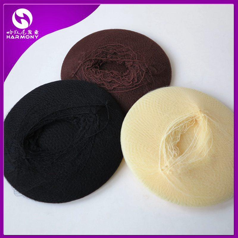 무료 배송 50 개 / 많이 나일론 헤어 네트, 색상은 블랙 브라운과 화이트, 패키지는 곱슬 머리와 가발 캡에 사용됩니다