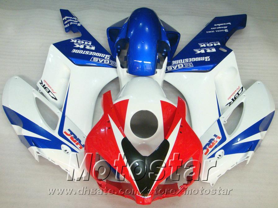 Injection mold fairings bodywork for HONDA CBR 1000 RR 2004 2005 white red blue CBR1000RR 04 05 plastic fairing kit KA3