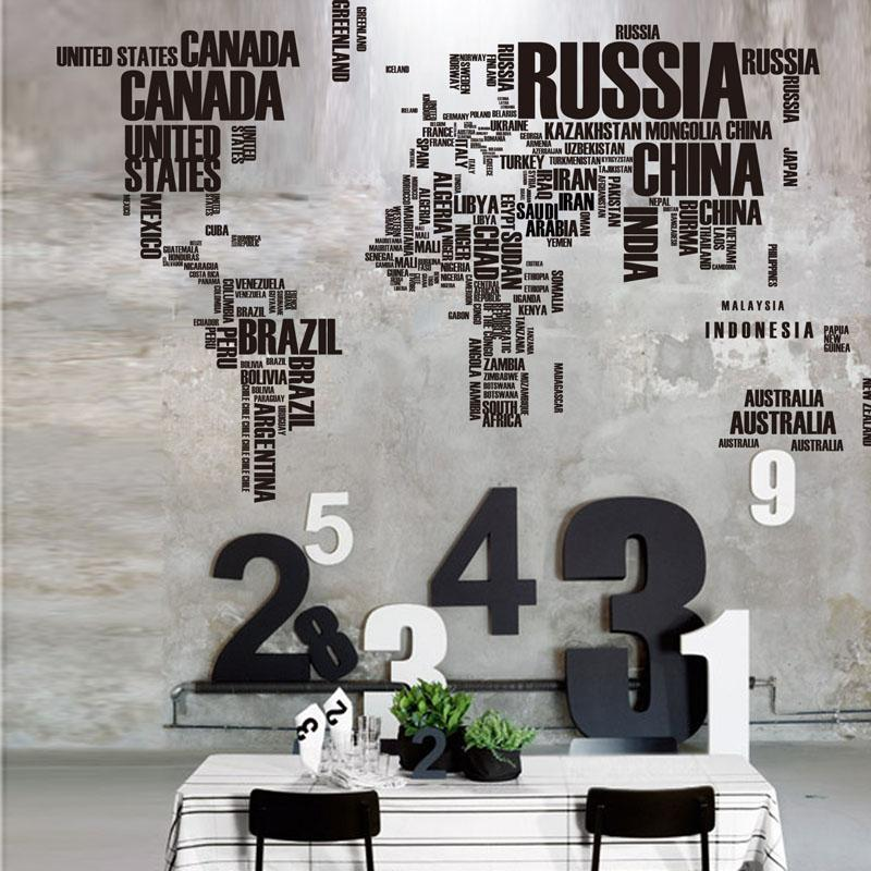 Hot sale large letter world map quote removable vinyl decal mural hot sale large letter world map quote removableg gumiabroncs