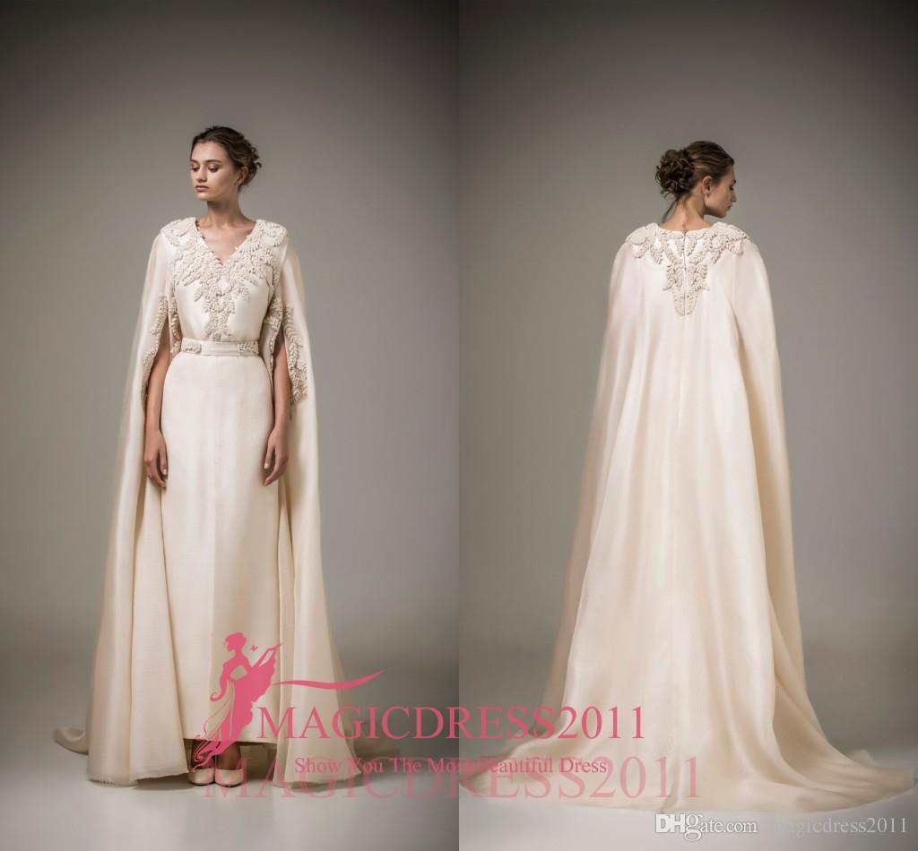 Charming Ivory Evening Dresses Ashi Studio Caftan Arabic Long Formal ...